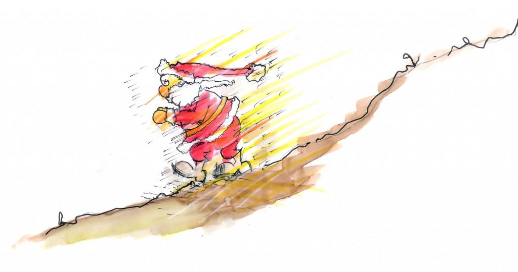 weihnachtsmann auf flucht
